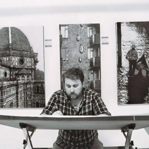 Joseph Steininger in his studio